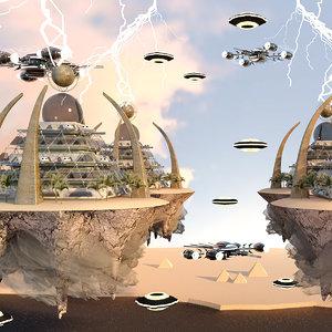 pyramid city 3D model