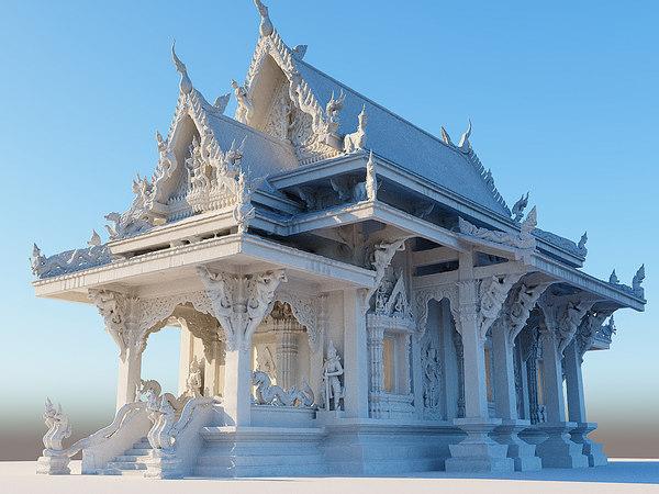 white temple model