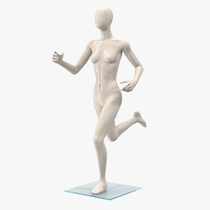 3D female mannequin running pose