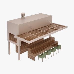 outdoor bar 3D model