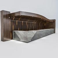 reception hotel lobby 3D model