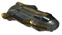 Space Ship Rough Metal