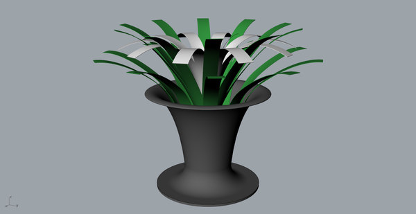 orchid wine bottle 3D model
