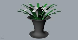 orchid wine bottle 3D model