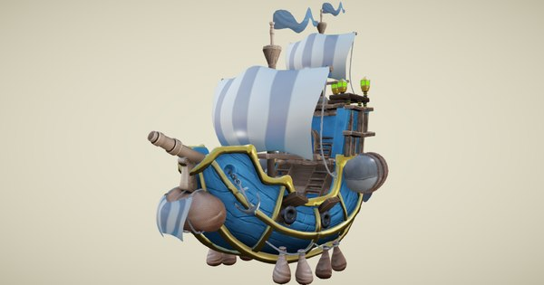 flying ship 3D