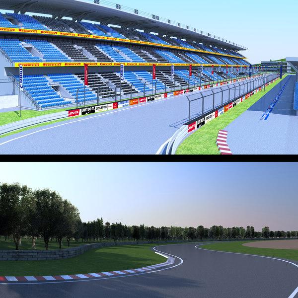 race track 3D model