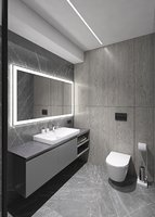 Awesome shower room with stone mass tile
