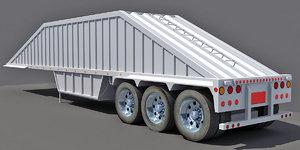 3d dump trailer 2 model