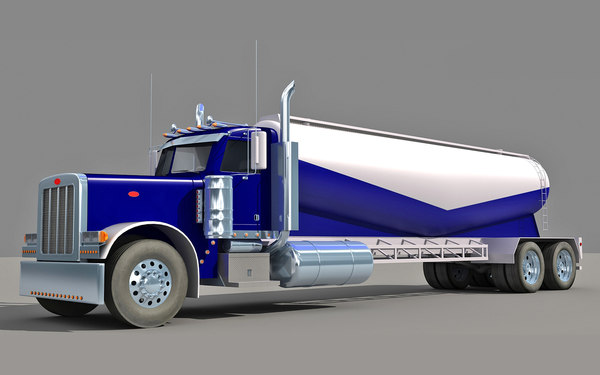 american tanker truck obj