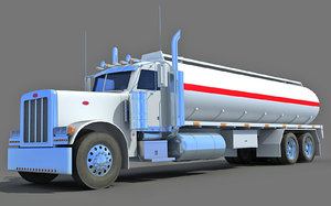 3d tanker truck model