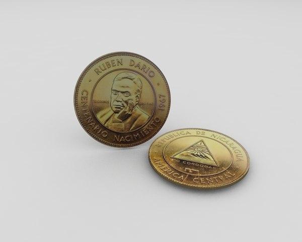 3D moneda oro en conmemoracin