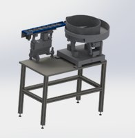 3D vibration plate feeding mechanism