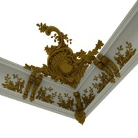 3D patterned cornices