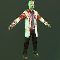zombie doctor 3D model
