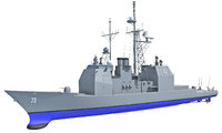 uss port royal cg-73 3d model