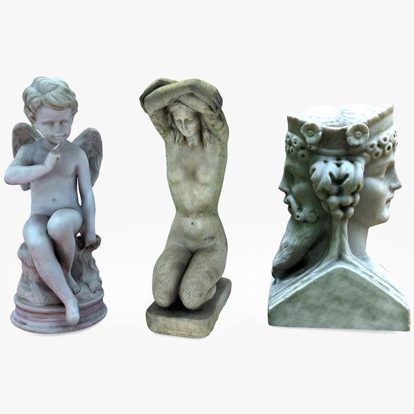 3D statues bust model