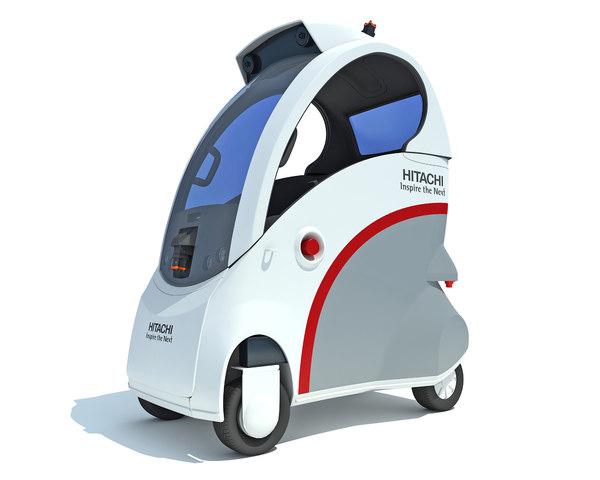 future robot car 3d max
