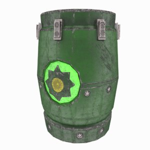 3D model mysterious barrel