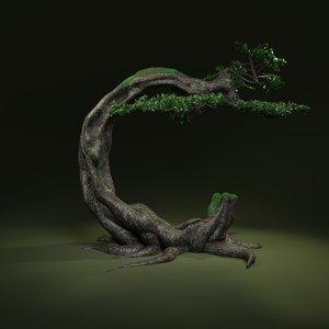 3D tree letter c