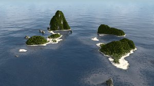 3D environment tropical terrains blender model