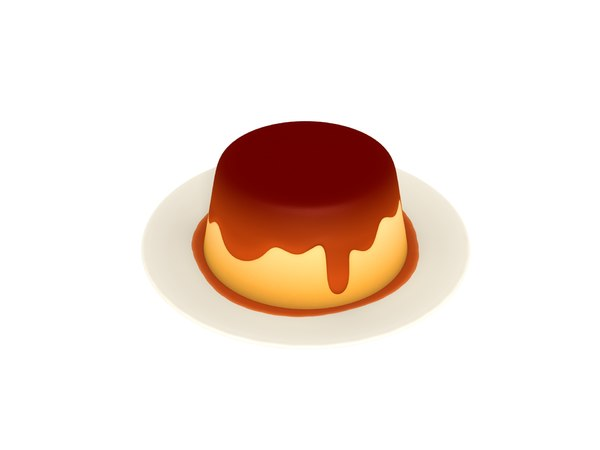 pudding cartoon 3D model