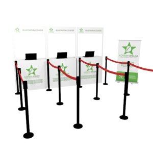 registration counter banner stand 3D model