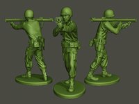 american soldier ww2 shoot 3D model