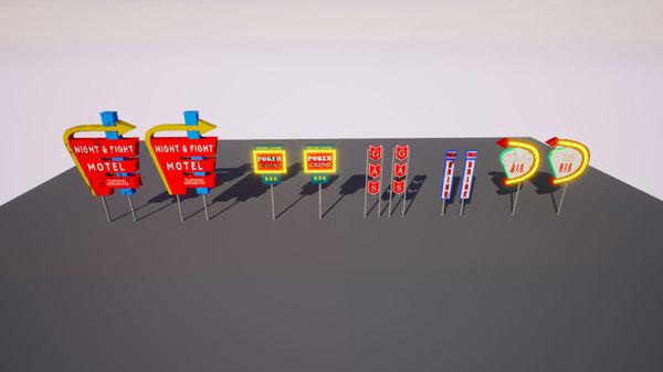 3D ready sign billboard