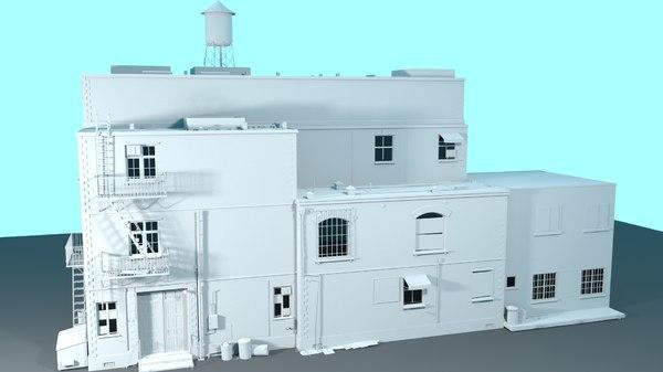 3D building old model