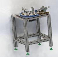 3D rotary plate feeding unloading