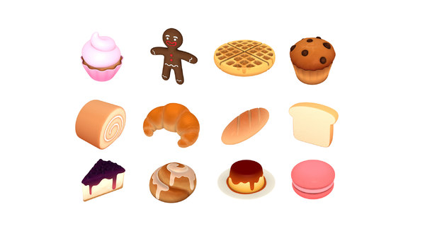 cartoon food pack 3 3D model