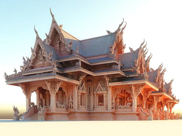 temple ultra hd 3D model