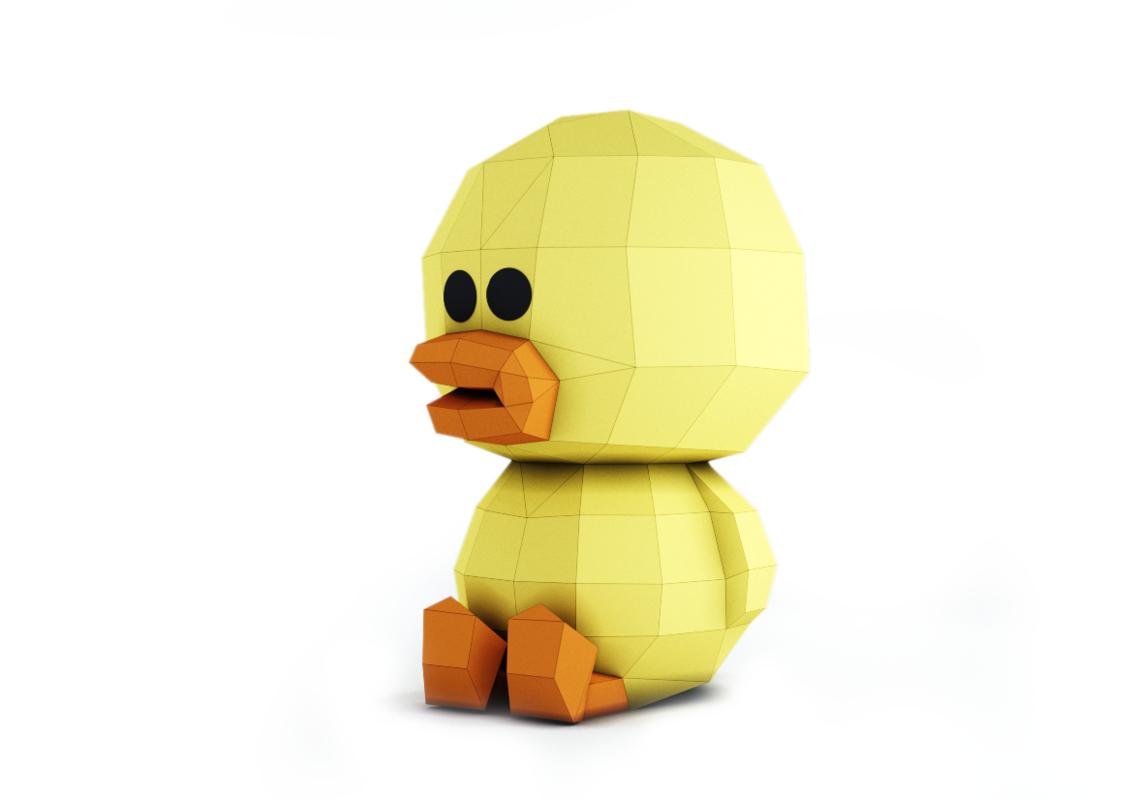 3D duck sally model