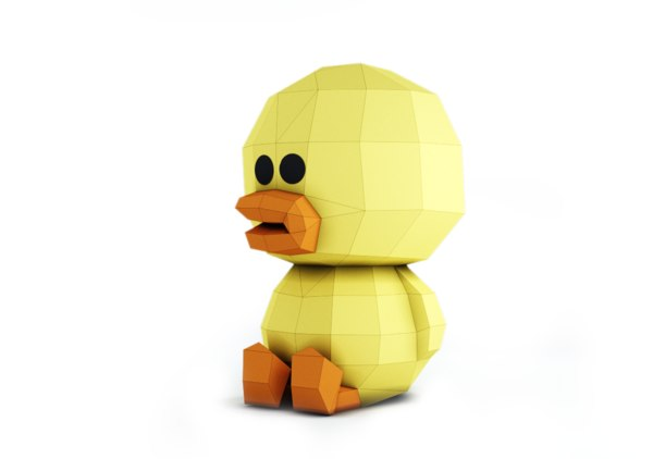 3D duck sally model