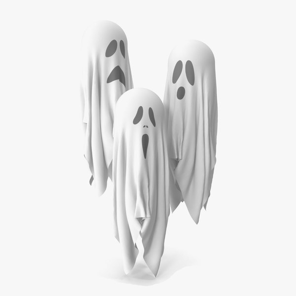3D halloween ghosts model