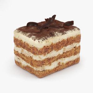 3D model cake dessert food