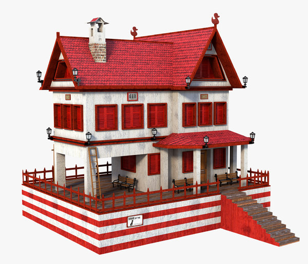 3D model house red