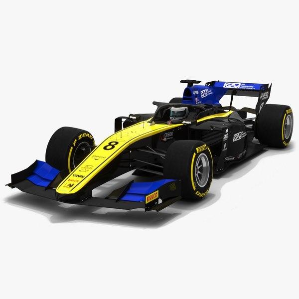 3D model uni-virtuosi 8 f2 race car