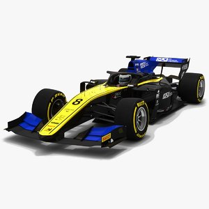 3D model uni-virtuosi 8 f2 race car