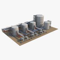 3D model industrial silo 8