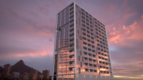 3D highrise building