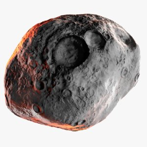 real world asteroid vesta 3D model