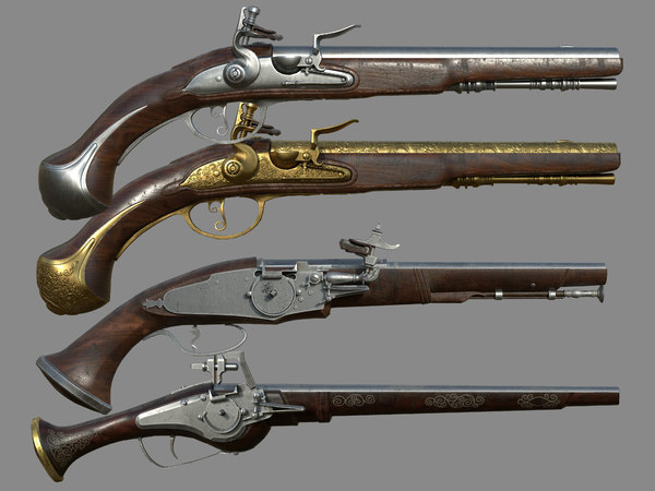 flemish flintlock pistol model