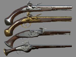 flemish flintlock pistol model