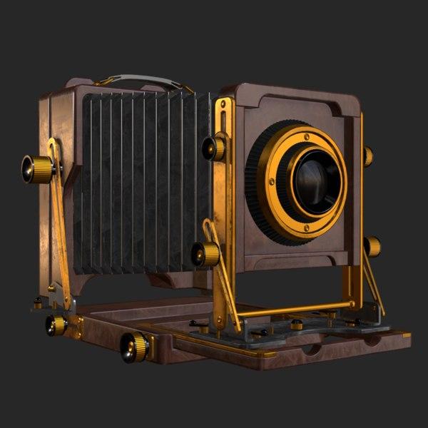 3D old antique camera model