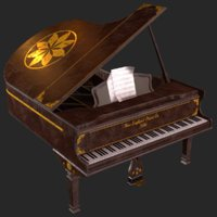 Old Antique Grand Piano