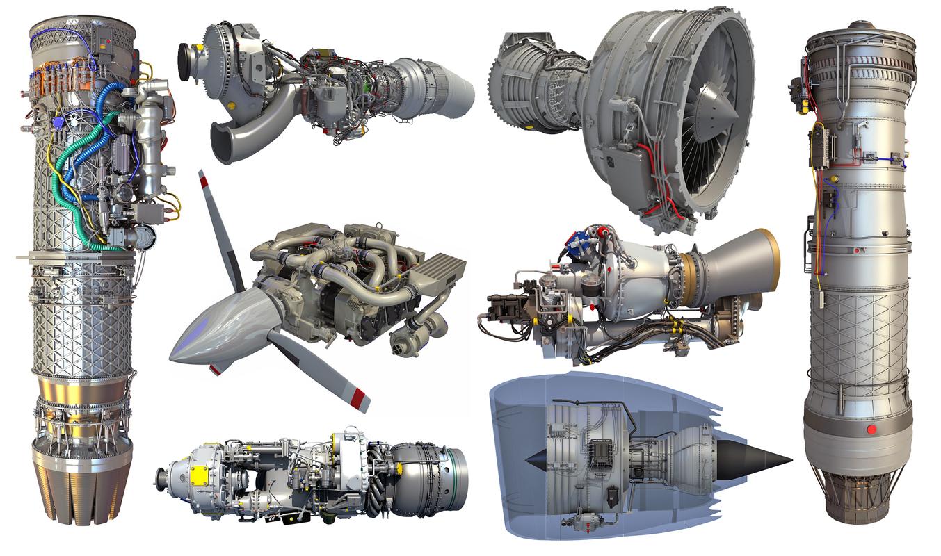 3D aircraft engine