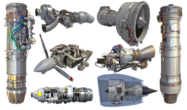 3D aircraft engine