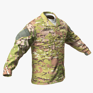 army acu coat 3D model