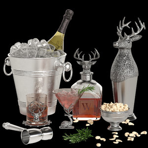 3D stag cocktail model